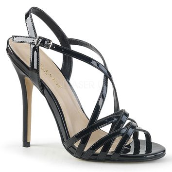 Pleaser Amuse Strappy Black Pumps