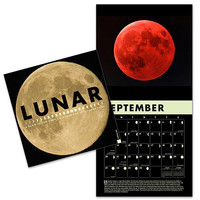 Lunar 2015 Wall Calendar A Glow-in-the-Dark Calender