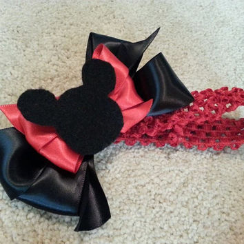 Minnie/Mickey Mouse Inspired Headband/ From Premie to Adult- Color Customizations