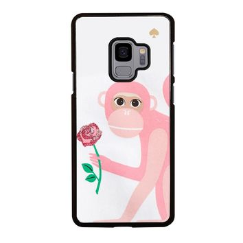 KATE SPADE MONKEY APPLIQUE iPhone X black rubber Samsung Galaxy S3 S4 S5 S6 S7 S8 S9 Edge Plus Note 3 4 5 8 Case