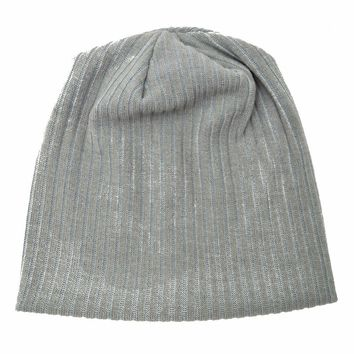 B178222 hot sell sweater knit ribbed Classic beanie,Acrylic grey hats women fashion Elastic ribbed warmth skullcap