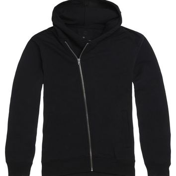 On The Byas Dean Moto Zip Fleece Hoodie - Mens Hoodies - Black