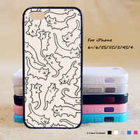 Lots of Cats Phone Case For iPhone 7 For iPone 7 Plus For iPhone 6 Plus For iPhone 6 For iPhone 5/5S For iPhone 4/4S For iPhone 5C iPhone X 8 8 Plus
