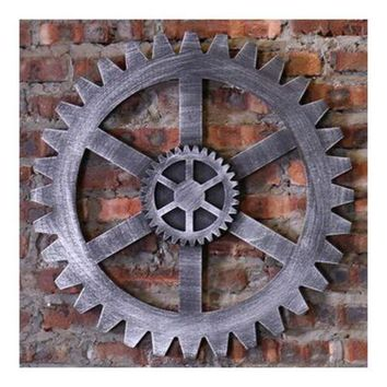 Industrial Style Gear Wall Haning Decoration    L