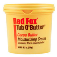 Red Fox Tub O'Butter Cocoa, Moisturizing Creme 10.5 Oz