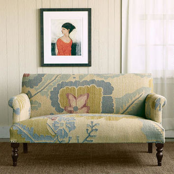 Passion Flower Kilim Loveseat