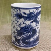Japanese Dragon Print Tea Cup and Mugs