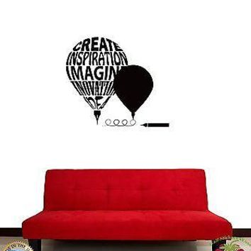 Wall Sticker Writers Symbol Imagination Creation Decor for Living Room Unique Gift z1376