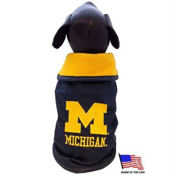 Chenier Michigan Wolverines Weather-Resistant Blanket Pet Coat