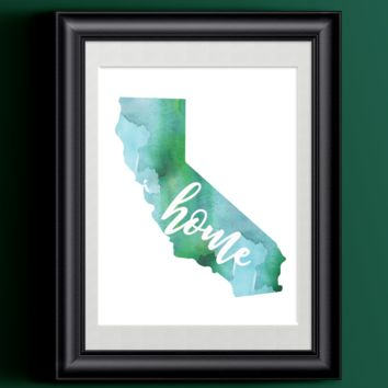 California Home Watercolor Print