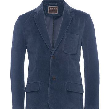 Navy Stretch Corduroy Blazer
