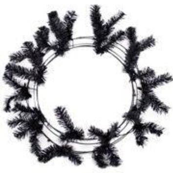 46 Tips Black Elevated Work Wreath Form