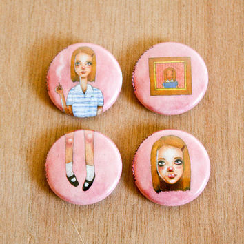 Margot Tenenbaum | 1 Inch Pin 4 Pack | FREE SHIPPING