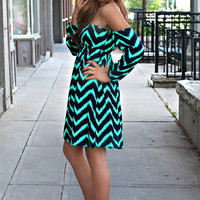 Spearmint Wave Dress