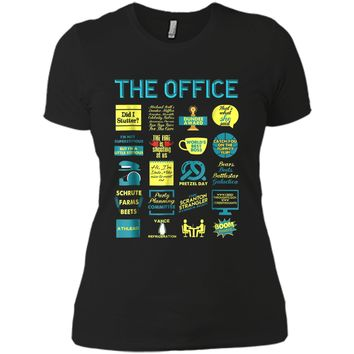 The Office Quote Mash-Up Funny  - Official Tee Next Level Ladies Boyfriend Tee