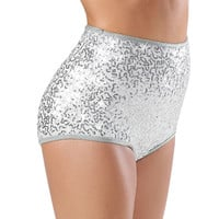 Sequin High Waisted Brief Shorts; Balera