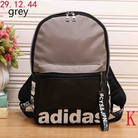 ADIDAS trendy men and women with the same paragraph high quality trend shoulder bag F-KR-PJ Grey