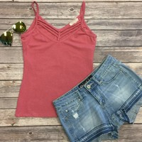 Sun Kissed Tank Top: Rose