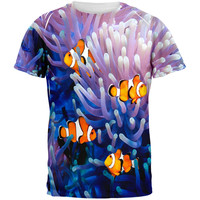 Clownfish Sea Anemone All Over Adult T-Shirt