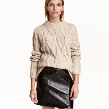 Coated Skirt - from H&M