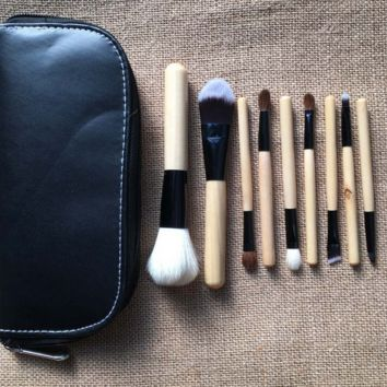 9PCS Eco-friendly Wooden Cosmatic Brushes Make up Brush
