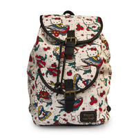 Hello Kitty Loungefly Tattoo Canvas Backpack