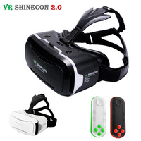 360 Shinecon VR 2.0 II 3D Glasses Virtual Reality VR Headset Cardboard VRBOX For 4.7-6' Mobile Phone + Mocute Remote Controller