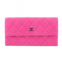 Chanel Pink Caviar Quilted Long Wallet (Pre Owned) - 2972010 | LuxeDH