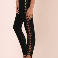 Brooklyn Karma Lace Up Side Pants