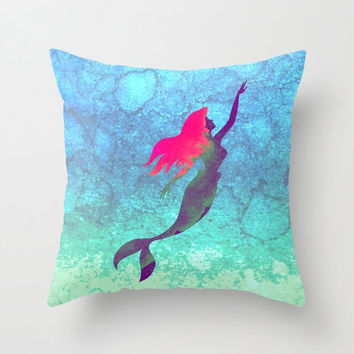 Disney's Ariel The Little Mermaid Watercolor Decorative Pillow Case