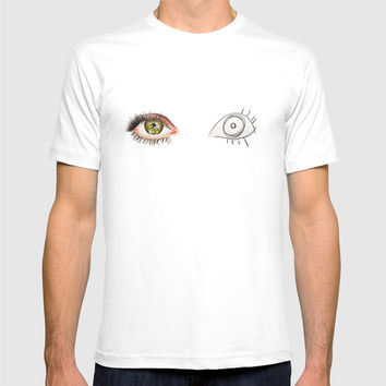The Other Eye // drawing the reflection pet peeve T-shirt by Camila Quintana S