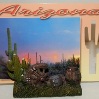 Cactus Business card holder Desert Southwestern Souvenir, desk office accessory, cacti decor
