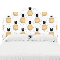 Gold Pineapple Headboard Decal