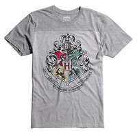 Harry Potter Hogwarts Crest Yoke T-Shirt
