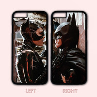 Catwoman and Batman Lover Couple Case,Custom Case,iPhone 7 7 plus iPhone 6+/6/5/5S/5C/4S/4,Samsung Galaxy S6/S5/S4/S3/S2