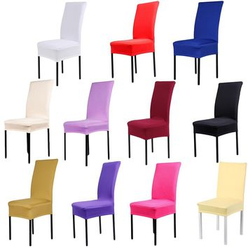 Universal Spandex Stretch Dining Chair Covers Wedding Banquet Party Home Decor