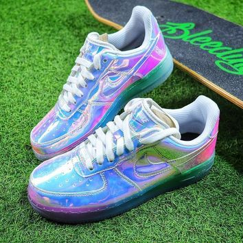 Nike Air Force 1 Low New York City Nyc Ice Blue Sliver Iridescent Sport Shoes 779456 991 Sneaker Sale
