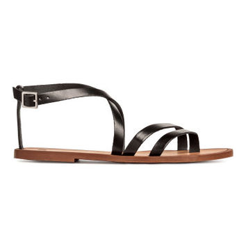 H&M Strappy Leather Sandals $24.99