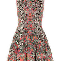 Alexander McQueen | Flared barnacle-intarsia dress | NET-A-PORTER.COM