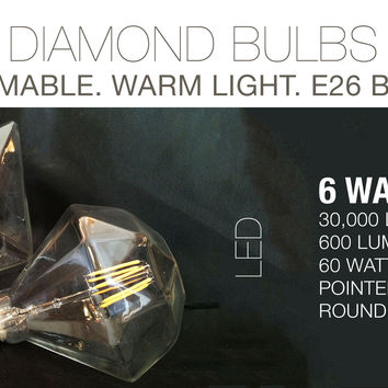 LED Diamond Filament Bulbs