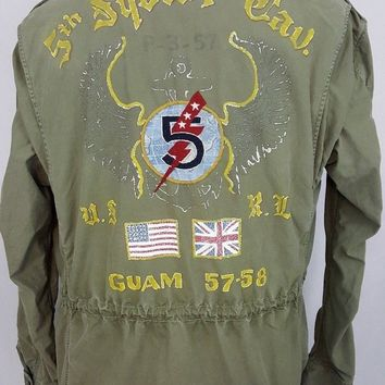 NEW Polo Ralph Lauren M-1943 PRL Jacket Field MIlitary Army Guam Jacket Size XL