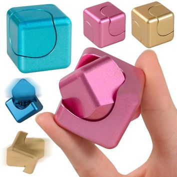Fidget Cube Two-in-one Hand Spinner Finger Toy Magic Cubes Fidget Spinner Stress Relief Desk Spin Toys Gifts For Children