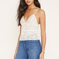 Scalloped Floral Lace Cami