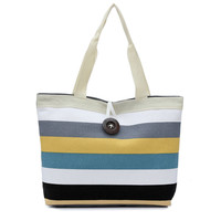Summer Canvas Women Bags Color Printing Handbags Shoulder Casual Bolsa Shopping