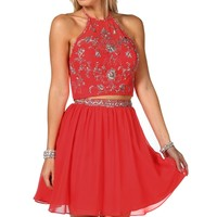 Vanni- Coral Homecoming Dress
