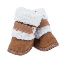 4Pcs/set Winter Warm Dog Snow Boots Pet Shoes for Small Dogs Cats Anti-slip Boots Yorkshire Snow Boots Pet Products