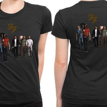 Foo Fighter Photo All Crew 2 Sided Womens T Shirt