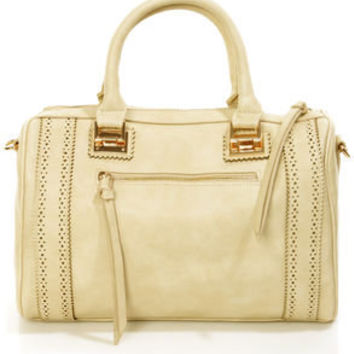 Brogue-in' Dreams Beige Handbag by Urban Expressions