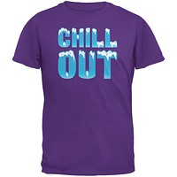 Chill Out Purple Adult T-Shirt