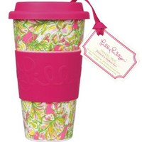 Lilly Pulitzer Travel Mug, Elephant Ears - Kitchen Drinkware Cup Glass 143002-LGPLP